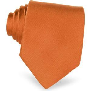 フォルツィエリ Forzieri メンズ ネクタイ Solid Silk Tie Copper|ef-3