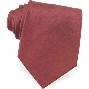 フォルツィエリ Forzieri メンズ ネクタイ Solid Silk Tie Burgundy|ef-3