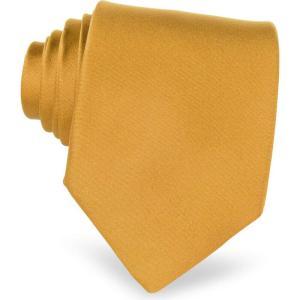 フォルツィエリ Forzieri メンズ ネクタイ Solid Silk Tie Gold|ef-3