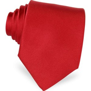 フォルツィエリ Forzieri メンズ ネクタイ Solid Silk Tie Red|ef-3