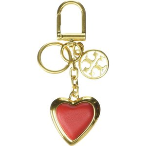 トリー バーチ Tory Burch レディース キーホルダー Logo Heart Key Fob Brilliant Red|ef-3