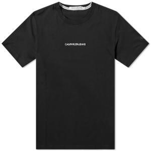 カルバンクライン Calvin Klein メンズ Tシャツ ロゴTシャツ トップス Embroidered Logo Tee Black ef-3