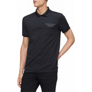カルバンクライン Calvin Klein メンズ ポロシャツ 半袖 トップス Move 365 Short Sleeve Pocket Polo Quick Dry & Moisture Wicking Features Black|ef-3