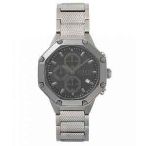 ヴェルサーチ Versus by Versace メンズ 腕時計 Kowloon Gunmetal Black Chronograph Watch Silver|ef-3