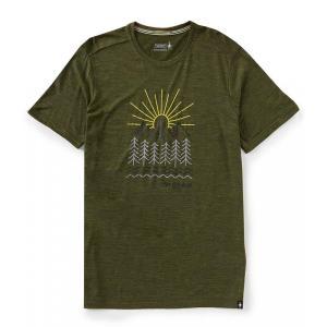 スマートウール SmartWool メンズ Tシャツ トップス Merino Sport 150 Mountain Morning Short-Sleeve Graphic Tee Moss Green Heather|ef-3
