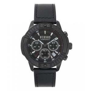 ヴェルサーチ Versus by Versace メンズ 腕時計 Admiralty Matte Black Chronograph Watch Black|ef-3