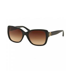 トリー バーチ Tory Burch レディース メガネ・サングラス Iconic Reva Logo Sunglasses Black|ef-3