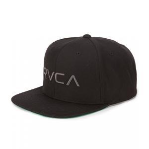 ルーカ RVCA メンズ キャップ 帽子 Twill Snapback III Hat Black/Charcoal|ef-3