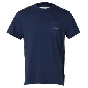 【即納】カルバンクライン CALVIN KLEIN メンズ Tシャツ トップス Short Sleeve Monogram Pocket Crew PEACOAT ポケット モノグラムロゴ クルーネック|ef-3