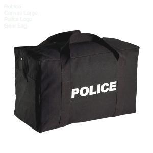 アメリカンポリスのロゴが両面にプリントされた 大容量のキャンバス生地のボストンバッグです カラー:ブ...