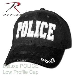 ポリス キャップ ミリタリー ロスコRothco POLICE ブラック ベースボール キャップ