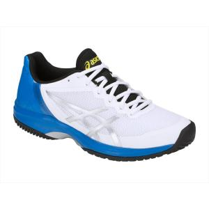 シューズ メンズ バドミントン ASICS(アシックス) TLL800 GEL-COURT SPEED OC アシックス ゲルコートスピード オムニ クレーコート ホワイト|effective-sports