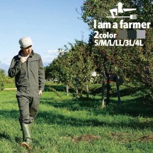 I am a farmer メンズ格子織 オーバーオール Imf9210 農作業 つなぎ ガーデニング 作業服 大きいサイズ おしゃれ 野良着 ツナギ オールインワン T志 代引不可|efiluz
