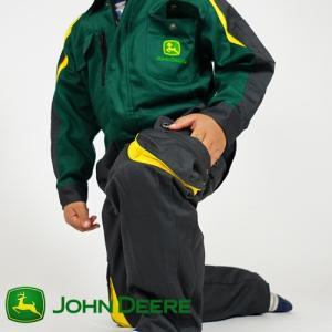 John Deere ジョンディア 子供用 ツナギ服 LP-0011-DGR つなぎ服 キッズ 長袖 こども 農作業 農作業着 おしゃれ オールインワン プレゼント ギフト T志 代引不可 efiluz
