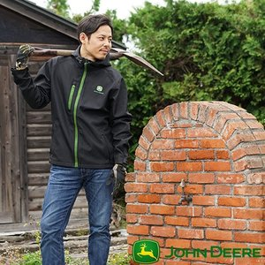 John Deere ジョンディア シェルパーカージャケット ヤッケパーカー ウィンドブレーカー メンズ おしゃれ 撥水 農業 農作業 アウトドア T志 代引不可 efiluz