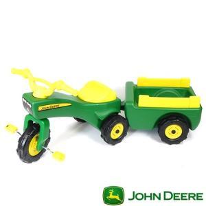 John Deere ジョンディア 三輪車 カート付 TOMY TBEK46088 組立要 足けり 乗用玩具 乗り物 子ども プレゼント ギフト T志 代引不可 efiluz