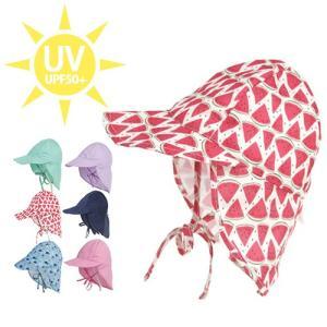 UV 帽子 キッズ こども用 日よけ 耳カバー付 キャップ ハット 夏 おしゃれ 可愛い 紫外線 UVカット アウトドア ガーデニング 熱中症 対策 プレゼント ギフト efiluz