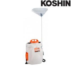 充電式噴霧器 SLS-10N 容量10L[縦型二頭口 / カバー付泡状除草噴口] (バッテリー・充電器なし) 工進 KOSHIN 背負式 除草 消毒 散布 シB 代引不可|efiluz