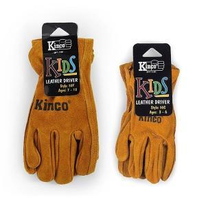 Kinco glove kids キンコ グローブ キッズ 3〜6歳用 50c 子供用 手の小さい 女性用 SS レザー グローブ 作業 手袋 おそろい 牛 革|efim