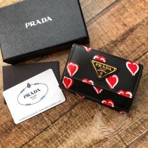 9efbd1f155f1 PRADA プラダ サフィアーノ ハート コンパクト三つ折り財布 1MH021 PRADA s.