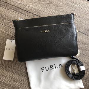 FURLA ROYAL フルラ ダブルジップ ショルダーバッグ   サイズ:横22.0×縦14.0×...