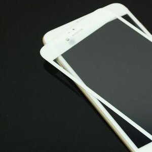iPhone6/6s 用 3Dフルカバー 液晶保護強化ガラス(ホワイト) egadget-online