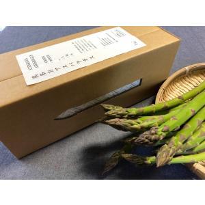 Lサイズ アスパラ 1kg/1箱 グリーン ご贈答 会津 喜多方 「ふくしまプライド。体感キャンペーン(果物」|egao-fukushima