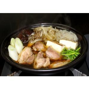 ブランド地鶏 川俣シャモ 軍鶏鍋セット 2〜3人前 しゃもなべ 国産 鶏肉「ふくしまプライド。体感キャンペーン(お肉)」|egao-fukushima