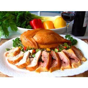 ブランド地鶏 川俣軍鶏 シャモ肉の燻製 ハーフ 半身  ふくしまプライド。体感キャンペーン(お肉)|egao-fukushima