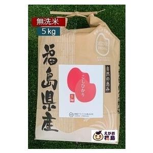 福島 コシヒカリ 5kg 精米(無洗米)こしひかり お米 「ふくしまプライド。体感キャンペーン(お米)」|egao-fukushima