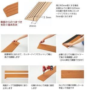 安寿 段差スロープEVA #20(1.8cm〜2.2cmの段差に対応)(アロン化成)|egao-ichiba|04