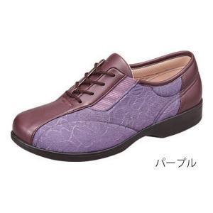 らくらくL007  パープル/22.0cm 左右一足(ムーンスター)|egao-ichiba