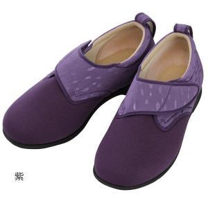 あゆみ ウィングストレッチ(足囲3E)紫/M(22〜22.5cm)左右一足(徳武産業)|egao-ichiba
