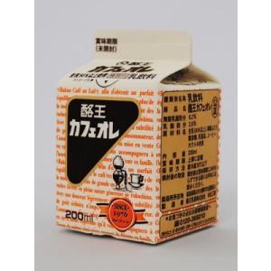 酪王カフェオレ 200ml 6本セット 福島ご当地ドリンク|egao-ichiba