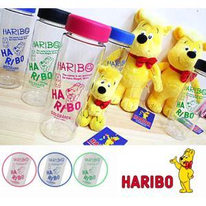 HARIBO ハリボー スリムクリアボトル クリアボトル 水筒 ピンク ブルー グリーン 熱中症対策 水分補給 マイボトル 節約 エコ|egaoshop