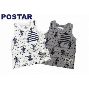 POSTAR ポスター ヤシの木ボーダータンクトップ ホワイト グレー 100cm 110cm 120cm 130cm  50%OFF!|egaoshop