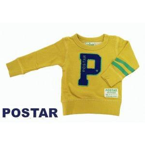 POSTAR ポスター Pワッペントレーナー イエロー 100cm 110cm 120cm 130cm  50%OFF!|egaoshop