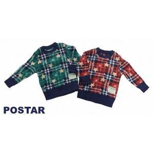 フリーストレーナー POSTAR ポスター 星柄×チェック フリーストレーナー レッド(r) グリーン(g) 80cm 90cm 95cm  |egaoshop