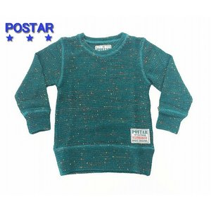 POSTAR ポスター カラーニットソー ブルー 100cm 110cm 120cm 130cm  |egaoshop