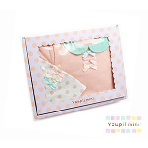 Youpi!mini ユッピー!ミニ ギフトセット 半袖グレコ スタイ 女の子 80cm ピンク 出産祝い ベビーギフト ギフト プレゼント|egaoshop