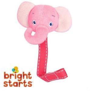 おしゃぶりホルダー おしゃぶり おもちゃ パシメイト ぞう Bright Starts ブライトスターツ ピンク egaoshop