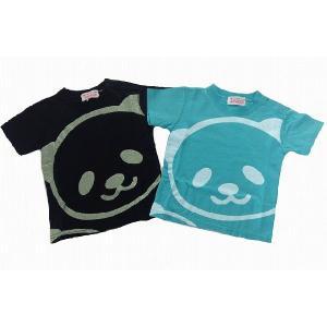 GARACH ギャラッチ パンダプリント半袖Tシャツ 80cm 90cm 100cm 2色 グリーン(Gn) ブラック(Bk) 50%OFF!   egaoshop