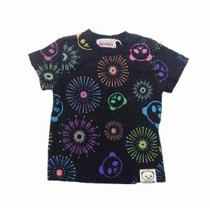 GARACH ギャラッチ 花火柄Tシャツ ブラック 80cm/90cm/100cm  50%OFF! egaoshop