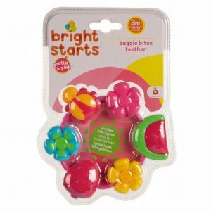 ブライトスターツ ピンク・バギーバイツ・ティーザー 歯固め ビーズ型歯固め ベビー 赤ちゃん 出産祝い 歯がため ベビーギフト|egaoshop