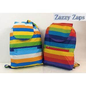 ZAZZY ZAPS ザジーザップス レインボー リュックサック 子供用リュック レッド ブルー 30%OFF!|egaoshop