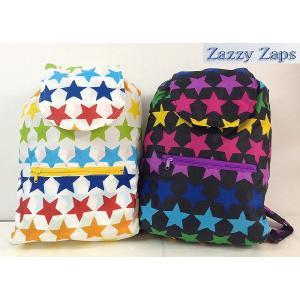 ZAZZY ZAPS ザジーザップス 星柄 リュックサック 子供用リュック ホワイト ブラック 30%OFF!|egaoshop