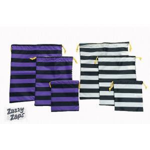 ZAZZYZAPS(ザジーザップス) ボーダー×ボーダー 巾着3点セット 巾着 巾着袋 コップ袋 コップ入れ 上靴入れ 上履き入れ 体操服袋|egaoshop