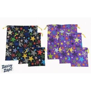 ZAZZYZAPS(ザジーザップス) 星柄 巾着3点セット 巾着 巾着袋 コップ袋 コップ入れ 上靴入れ 上履き入れ 体操服袋|egaoshop