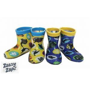 ZAZZY ZAPS ザジーザップス 恐竜柄レインシューズ 長靴 イエロー ブルー 13cm 14cm 15cm 16cm 17cm 18cm 19cm 20cm 21cm|egaoshop