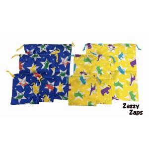 ZAZZY ZAPS(ザジーザップス) アニマル柄 動物柄 巾着3点セット 巾着 巾着袋 コップ袋 コップ入れ 上靴入れ 上履き入れ 体操服袋|egaoshop